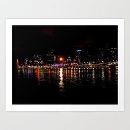 Last night in Brisbane. Art Print