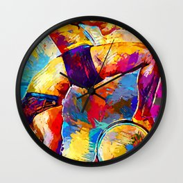 Yoga 2 Wall Clock