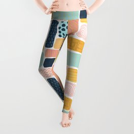 Abstract doodle shapes pattern Leggings