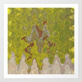 OVERLOOKING THE SAND DESERT INVASION ON PLANET LALIO Art Print