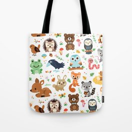 Woodland Animal Tote Bag