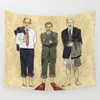 boys Wall Tapestries featuring Golden boys by Anastassia Elias