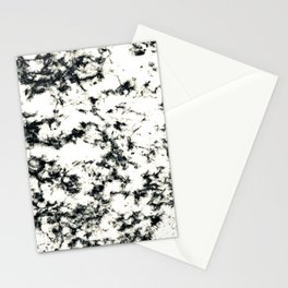 Epic Black and White Harlequin Marble Pattern Stationery Cards