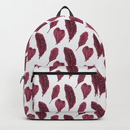 Feather Collection pattern - bordeaux Backpack