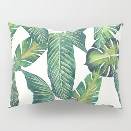 Jungle Leaves, Banana, Monstera II #society6 Pillow Sham