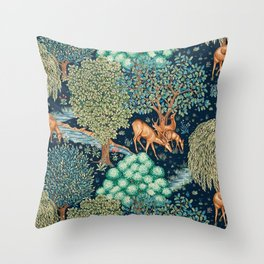 "William Morris ""The Brook"" Throw Pillow"