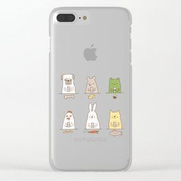 animals on social media Clear iPhone Case