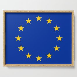 Flag of Europe 3 Serving Tray