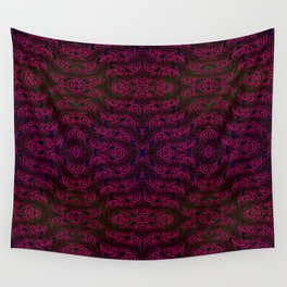 Dark red patterns Wall Tapestry