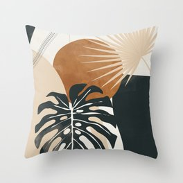 Abstract Art Tropical Leaves 7 Throw Pillow