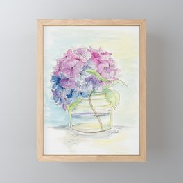 Hydrangea, Still Life Framed Mini Art Print