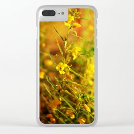 Golden Ribbons Clear iPhone Case