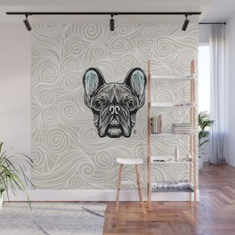 French Bulldog Smilling Wall Mural