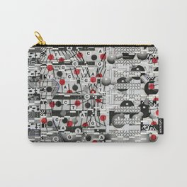The Unreasonable Man (P/D3 Glitch Collage Studies) Carry-All Pouch