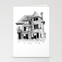 cabin Stationery Cards featuring cabin fever by PAFF