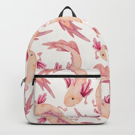 Mexican Axolotls Watercolor Backpack