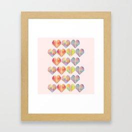 pastel heart Framed Art Print