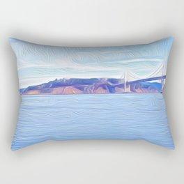 Yerba Buena at the Bridge Rectangular Pillow
