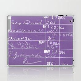 Library Card 23322 Negative Purple Laptop & iPad Skin