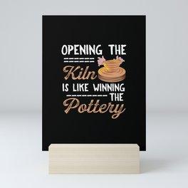 Funny Pottery Hobby Coiling Ceramics Potter Gift Mini Art Print