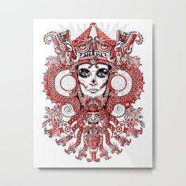 Red Serpent Queen Metal Print
