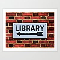 library Art Prints featuring Library by Biff Rendar