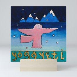 The Yoga Yeti Mini Art Print