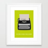 the perks of being a wallflower Framed Art Prints featuring the perks of being wallflower by Live It Up