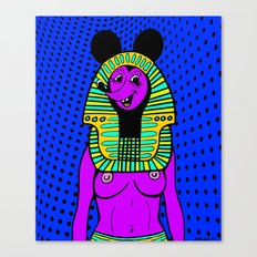 NEFER-TITTY.  (On Blue). Canvas Print