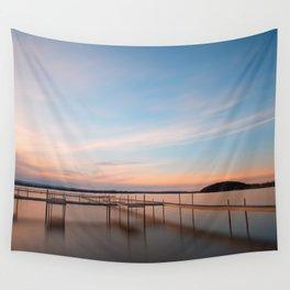 Saratoga Lake Sunset Wall Tapestry