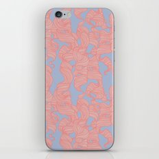 Trailing Curls // Pink & Blue Pastels iPhone & iPod Skin