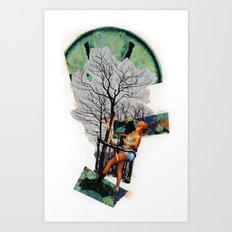 Rape of Aurora | Collage Art Print