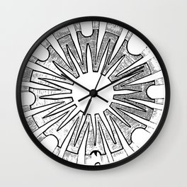 Polypite of Aurelia Aurita Cut Wall Clock