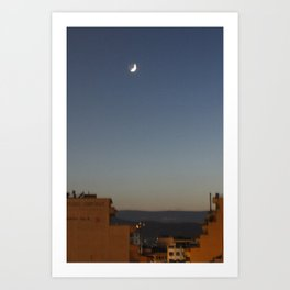 Shaky Moon Art Print