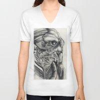 garrus V-neck T-shirts featuring Garrus  by VWelch78