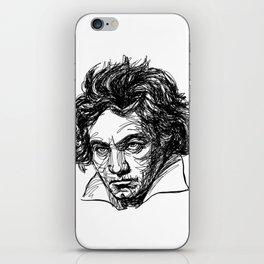 Ludwig Van Beethoven line drawing iPhone Skin