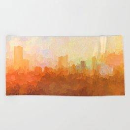 Austin, Texas Skyline - In the Clouds Beach Towel