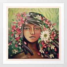 Desert Woman Art Print