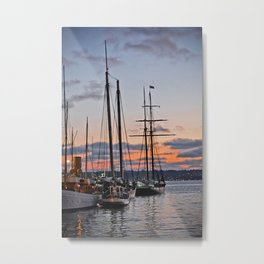 where the boats are Metal Print