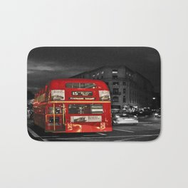 Red Routemaster London Bus Bath Mat