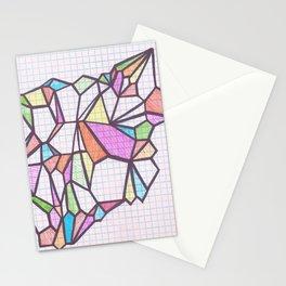 Geometric Rainbow Glacier Stationery Cards