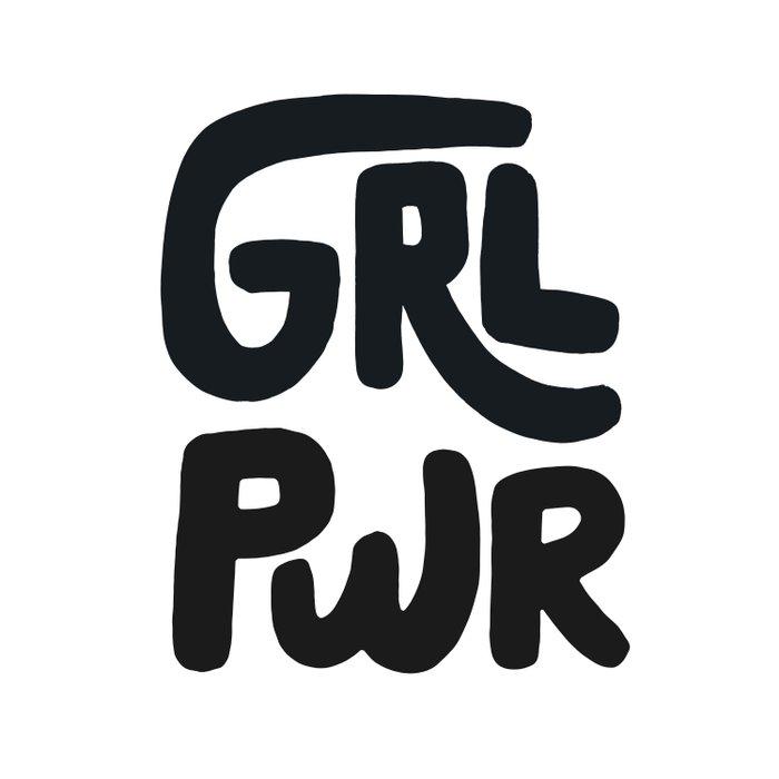 Grl Pwr black and white Duvet Cover