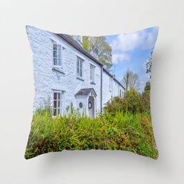 Mylor Walk - Cornish Cottage Throw Pillow