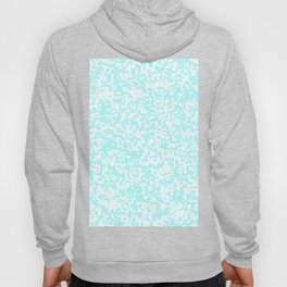 Small Spots - White and Celeste Cyan Hoody