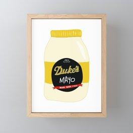 Duke's Mayonnaise Framed Mini Art Print