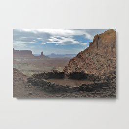False Kiva, Canyonlands National Park Metal Print