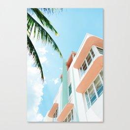 Miami Fresh Summer Day Canvas Print
