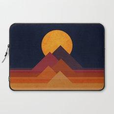 Full moon and pyramid Laptop Sleeve