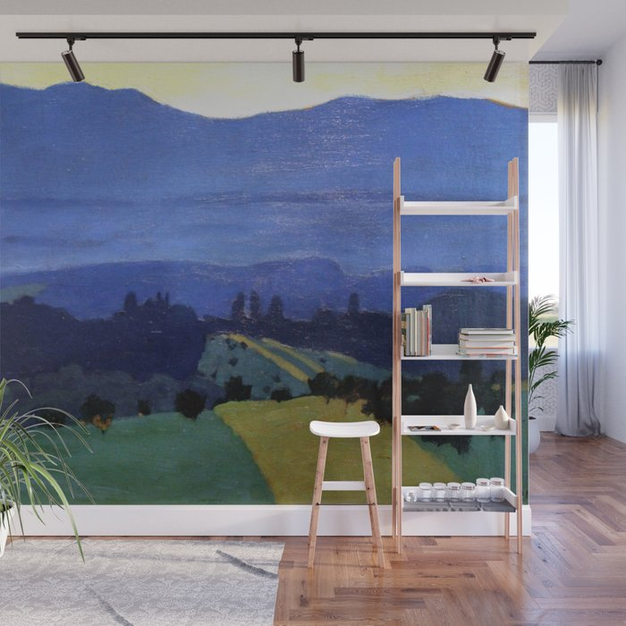 Felix Vallotton - Landscape in the Jura Mountains (new color editing) Wall  Mural by dejavustudio