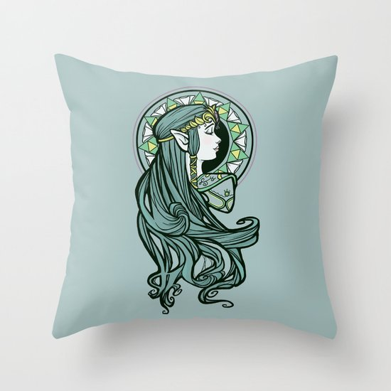 Zelda Nouveau Throw Pillow